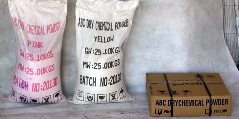 ABC Dry Chemical Powder Pink Yellow Alat Pemadam Api Agen Pemadam Api
